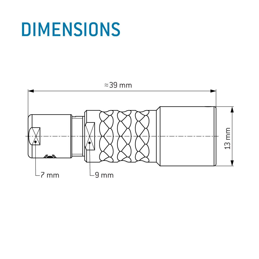 ODU MINI-SNAP® K Series Inline Receptacle, Size 0, IP 68